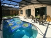 Spacious pool can be heated in winter months.